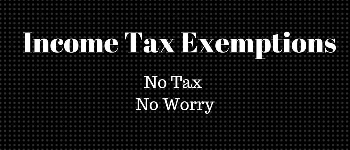 Income Tax Exemption for all persons: Say No to Tax