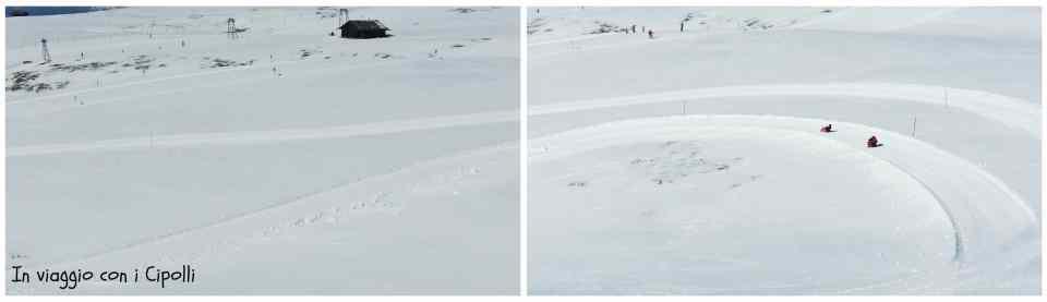 vacanze sulla neve pista da slittino