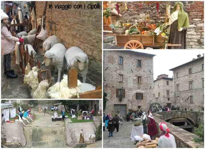 Natale in Umbria Presepe Gubbio