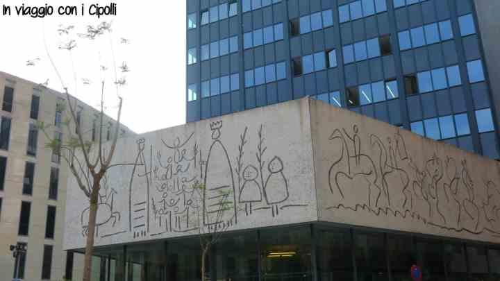 Barcellona con i bambini Fregi Picasso Plaça Nova