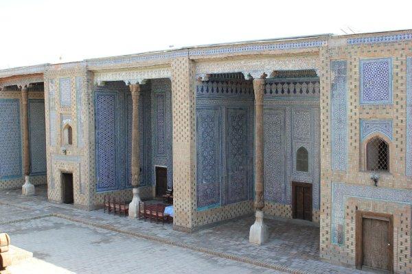 Cortile interno del palazzo Tosh Hovli (Khiva, Uzbekistan)