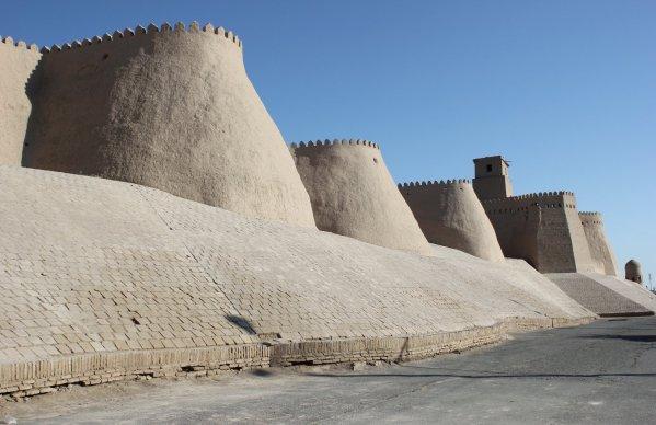Le mura di Khiva (Uzbekistan)