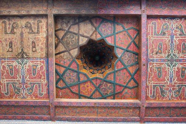Soffitto in legno, palazzo Tosh Hovli (Khiva, Uzbekistan)