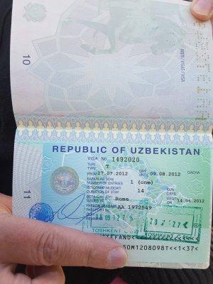 Viaggio in Uzbekistan, visto di ingresso per cittadini italiani