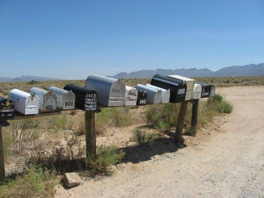 Tour dei Parchi, cassette della posta nel deserto dell'Arizona (Stati Uniti)