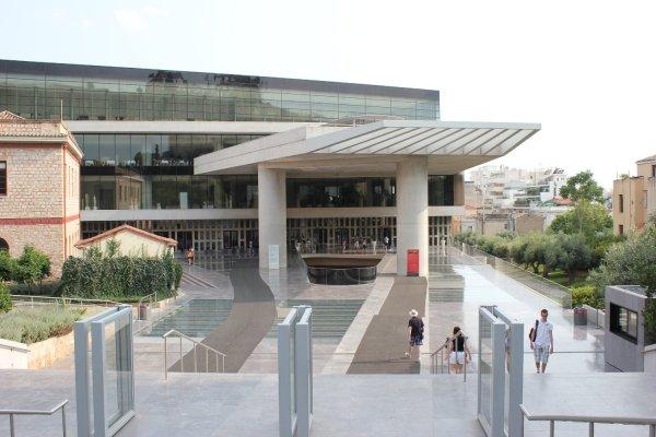 Viaggio ad Atene, ingresso al nuovo museo dell'Acropoli (Grecia)