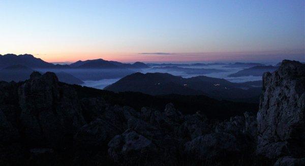 Viaggio in Friuli Venezia Giulia, salita notturna sul Monte Matajur (Italia)