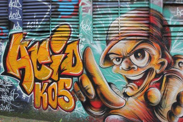Viaggio nei dintorni di Cracovia, murales a Nowa Huta (Polonia)