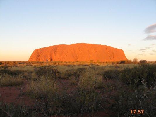 Viaggio in Australia, sequenza del tramonto ad Uluru (Northern Territory)