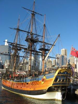 Viaggio a Sydney, copia dell'Endeavour nei pressi del Museo Marittimo a Darling Harbour (New South Wales, Australia)