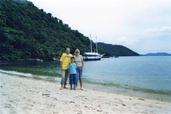 Viaggio in Brasile, la spiaggia dell'isola di Itacuruçà