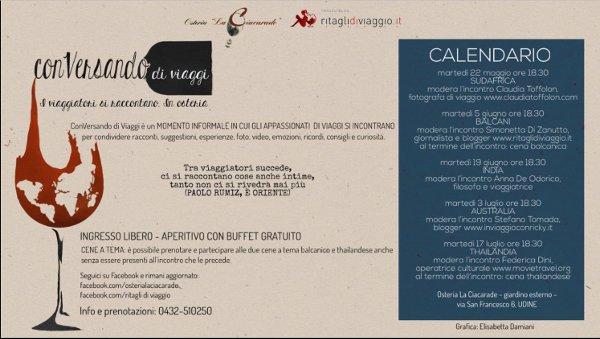 Conversando di Viaggi (Osteria La Ciacarade, Udine)