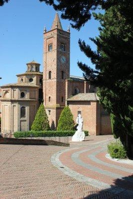 L'abbazia di Monte Oliveto Maggiore in Toscana