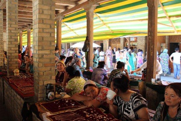 Il bazar dei gioielli a Bukhara in Uzbekistan