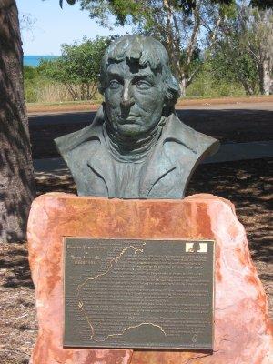 Busto esploratore Nicolas Baudin Broome