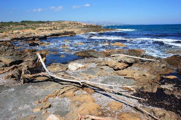 Caletta nei pressi della spiaggia di Calamosche a Vendicari