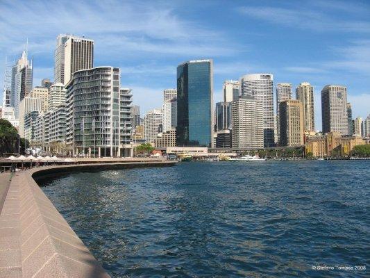 Una veduta dei grattacieli di Circular Quay a Sydney