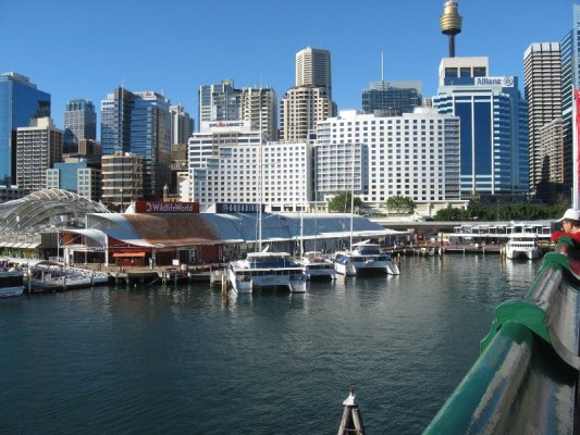 Panorama sull'area di Darling Harbour a Sydney