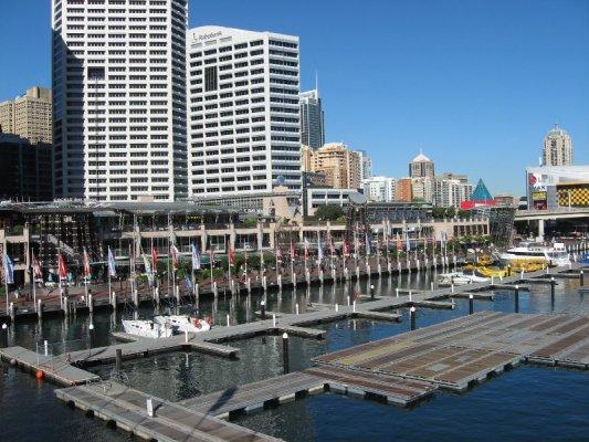 Panorama della zona di Darling Harbour a Sydney