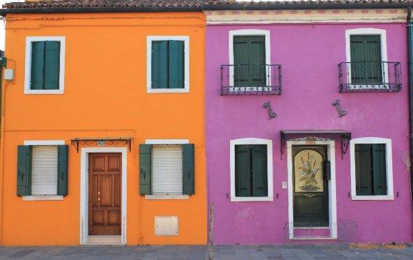 Case colorate Burano Veneto