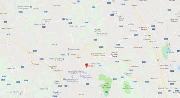 Mappa Val Orcia Toscana