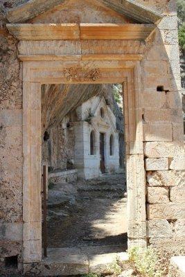 Ingresso monastero Ioánnou Eremíti Creta