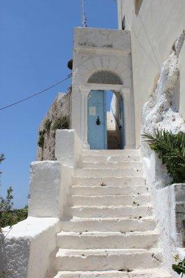 Ingresso del monastero di Moní Hrysoskalítissas a Creta
