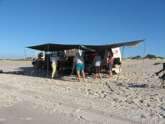 Picnic spiaggia Cape Leveque