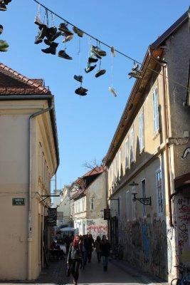 Trubarjeva cesta a Lubiana in Slovenia