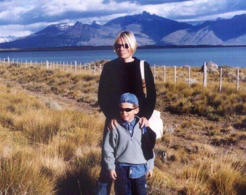 Il lago Argentino nei pressi di El Calafate in Argentina
