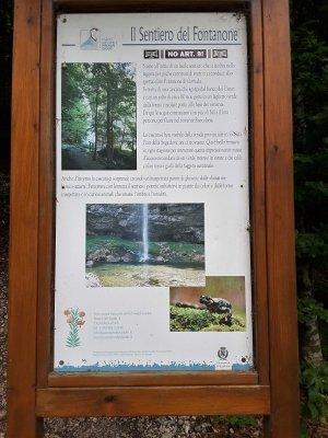 Inizio sentiero Fontanone Goriuda
