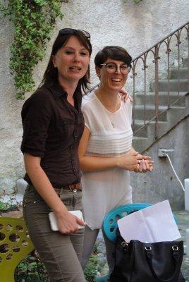 Simonetta Di Zanutto e Anna De Odorico alla osteria La Ciacarade di Udine