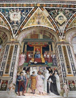 Canonizzazione di Santa Caterina da Siena Pinturicchio