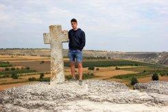 Croce monastero rupestre Orheiul Vechi Moldova