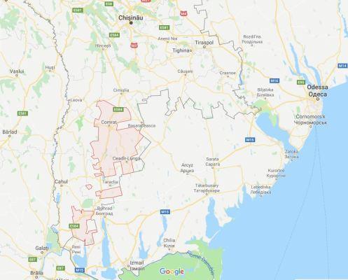 Mappa della Gagaùzia
