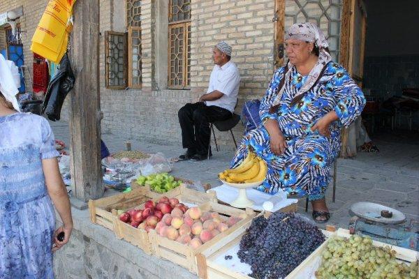 Bazar frutta Bukhara Uzbekistan