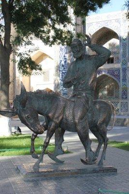 Statua Hoja Nasruddin Bukhara Uzbekistan