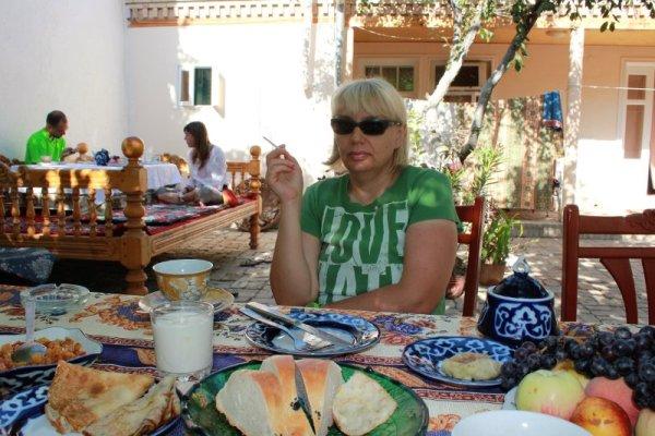 Colazione nel Antica Bed & Breakfast di Samarcanda in Uzbekistan