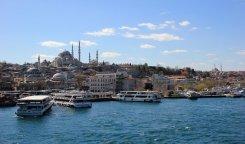 Panorama Istanbul dal ponte di Galata