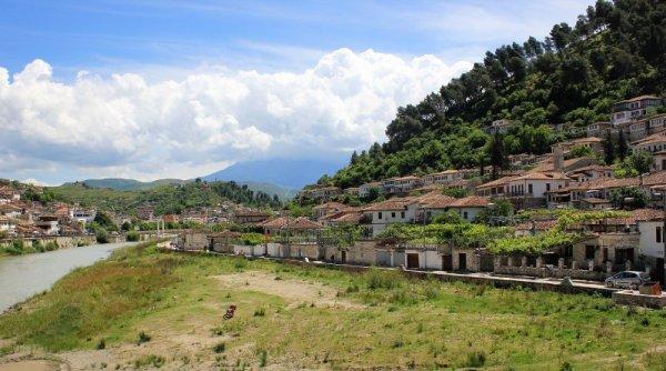 Panorama quartiere di Gorica Berat Albania