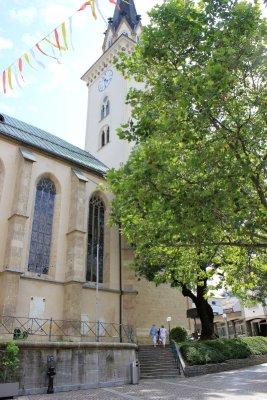 Torre chiesa di San Giaocmo Villach Austria