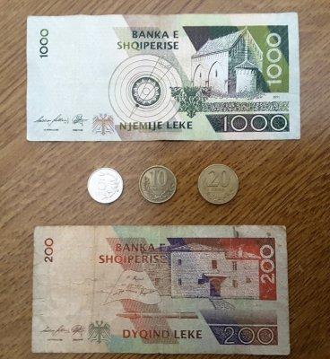 Monete banconote Albania