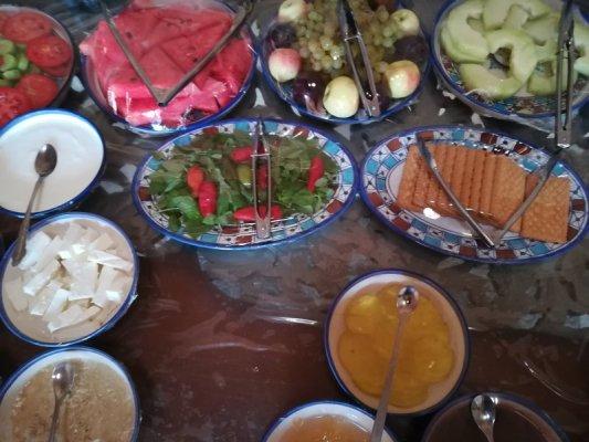 Breakfast Shaarbaf Hotel di Yazd Iran
