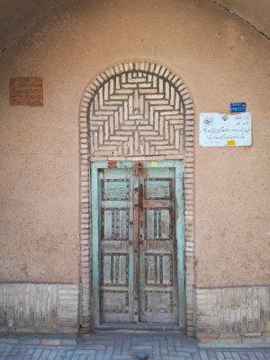 Porta ingresso vecchia abitazione Yazd Iran