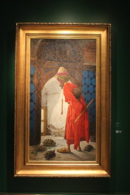 Museo Pera Istanbul, Ammaestratore di Tartarughe di Osman Hamdi Bey