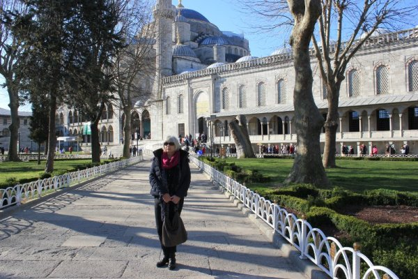 Cortile esterno Moschea Blu a Istanbul