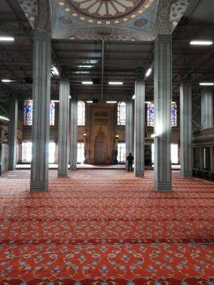 Interno della Moschea Blu Istanbul