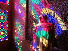 Interno della Masjed-e Nasir-al-Molk di Shiraz Iran