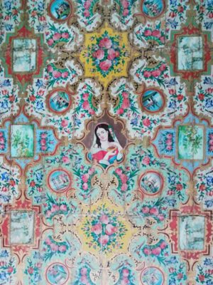 Decorazione soffitto camere del Palazzo Naranjestan-e Ghavam, Shiraz Iran
