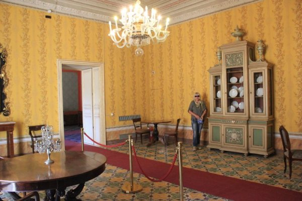 Palazzo Nicolaci a Noto, la sala Gialla